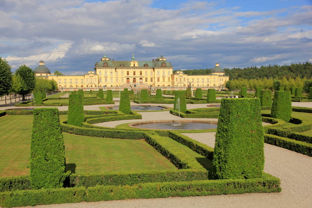 Drottningholms slottsområde.