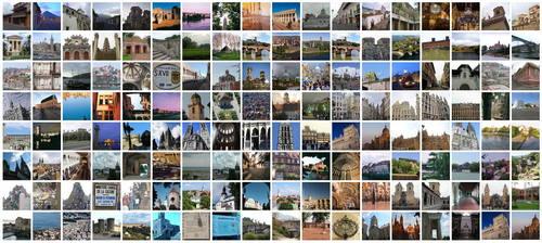 Collage av bilder på världsarv