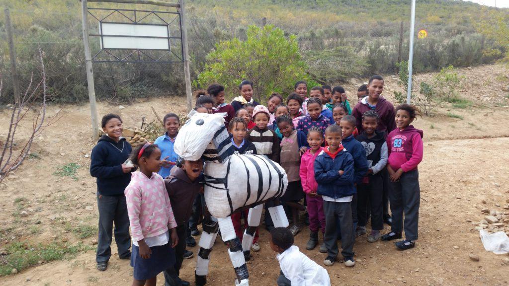 Bild på ett utav bidragen från Sydafrika. Bidraget är från Gouritz Cluster Biosphere Reserve, Scheeperskraal Primary School, Daskop Road, Western Cape, South Africa.